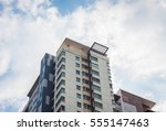 building. the tower in blue sky ...   Shutterstock . vector #555147463
