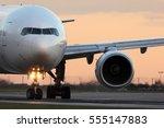 modern civil passenger airliner ... | Shutterstock . vector #555147883