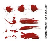 vector blood drop splash | Shutterstock .eps vector #555156889