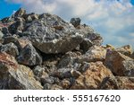 cat resting on the rocks | Shutterstock . vector #555167620