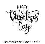 happy valentine's day.... | Shutterstock .eps vector #555172714