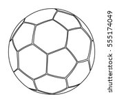 football icon outline. single... | Shutterstock . vector #555174049