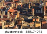 rooftops and chimneys of the... | Shutterstock . vector #555174073