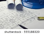 architectural plans project...   Shutterstock . vector #555188320