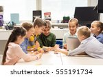 education  children  technology ... | Shutterstock . vector #555191734