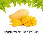 Mango Slice With Leaves...