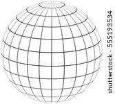 graticule globe meridian and... | Shutterstock .eps vector #555193534