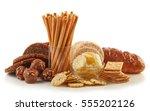 gluten free food. various...   Shutterstock . vector #555202126