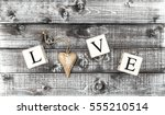 Letter Love And Wooden Heart O...
