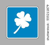 leaf clover sign. white icon on ...