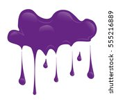 purple paint splatter icon... | Shutterstock .eps vector #555216889