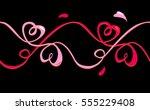 vector seamless pattern pink... | Shutterstock .eps vector #555229408