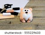 cute stuffed teddy bear toy....   Shutterstock . vector #555229633