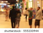 blurred people of shopping mall | Shutterstock . vector #555233944