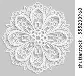 lace 3d mandala  round... | Shutterstock .eps vector #555233968