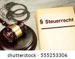 gavel and a german legislation... | Shutterstock . vector #555253306