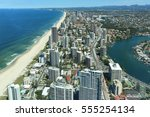 view over surfers paradise... | Shutterstock . vector #555254134