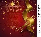 ribbon cutting ceremony banner | Shutterstock .eps vector #555255376
