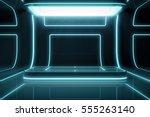 futuristic empty stage. modern... | Shutterstock . vector #555263140