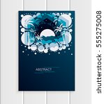 stock vector brochure design... | Shutterstock .eps vector #555275008