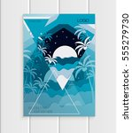 stock vector brochure design... | Shutterstock .eps vector #555279730
