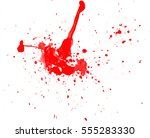 blood drops and splatters on... | Shutterstock .eps vector #555283330