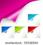 collection of colorful papers... | Shutterstock .eps vector #55528564