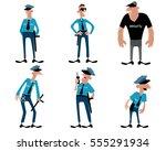 vector illustration of a six... | Shutterstock .eps vector #555291934