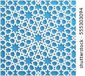 vector muslim mosaic  persian... | Shutterstock .eps vector #555303094