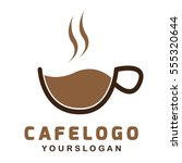 cafe coffee simple logo type... | Shutterstock .eps vector #555320644
