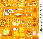 floral seamless pattern with...   Shutterstock .eps vector #555322156