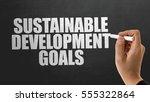 sustainable development goals | Shutterstock . vector #555322864
