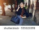 beautiful business lady...   Shutterstock . vector #555323398