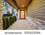 entrance of  luxurious new... | Shutterstock . vector #555325504