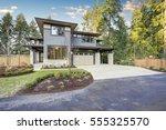 luxury new construction home... | Shutterstock . vector #555325570