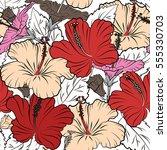 aloha hawaiian shirt vector... | Shutterstock .eps vector #555330703