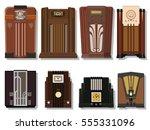 vector retro radio from the... | Shutterstock .eps vector #555331096