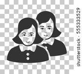 women vector pictogram.... | Shutterstock .eps vector #555333529