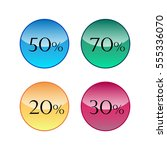 sale discount icons 20  30  50  ... | Shutterstock .eps vector #555336070