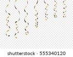 gold curly ribbons. golden... | Shutterstock .eps vector #555340120