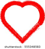 set of hearts . grunge stamps... | Shutterstock .eps vector #555348583