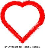 set of hearts . grunge stamps... | Shutterstock .eps vector #555348583