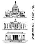 united states capitol  white...   Shutterstock .eps vector #555348703