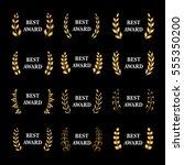 best award vector gold award... | Shutterstock .eps vector #555350200
