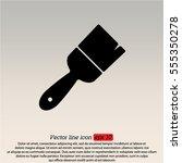 web line icon. brush for... | Shutterstock .eps vector #555350278