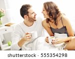 picture of young couple... | Shutterstock . vector #555354298