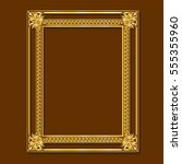 frame gold color with shadow on ... | Shutterstock .eps vector #555355960