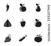 set of 9 editable cooking icons.... | Shutterstock . vector #555357949