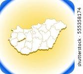 map of hungary | Shutterstock .eps vector #555358174