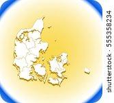 map of denmark | Shutterstock .eps vector #555358234